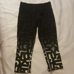 Nike Athletic/Yoga Capris With Ombre Letters